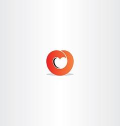 red heart gradient logo symbol sign vector image vector image
