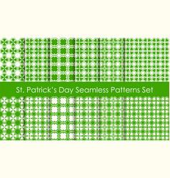 st patricks day holiday seamless pattern set vector image vector image