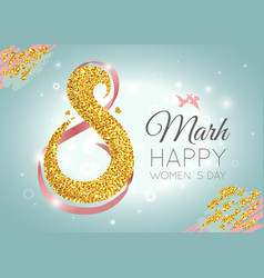womens day celebration greeting card vector image