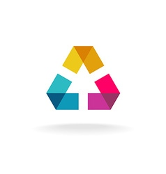 Abstract geometric logo vector image vector image