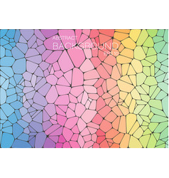 Abstract rainbow mosaic background for design vector