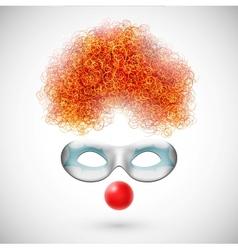 Accessories clown vector image