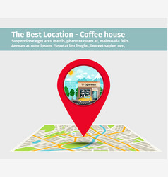 the best location coffee house vector image