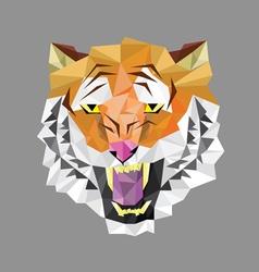 Tiger head polygon geometric vector image