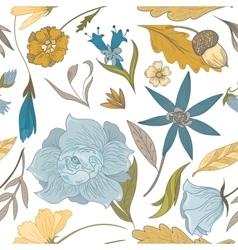 Vintage Fall Floral Pattern vector image