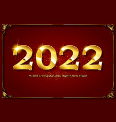 2022 happy new year banner vector image