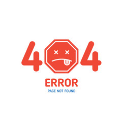 404 error page not found design template for vector image