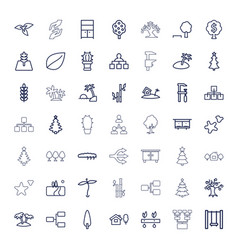 49 tree icons vector
