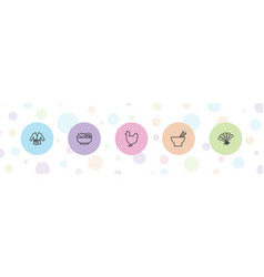 5 chinese icons vector