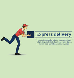 A young guy deliveryman vector