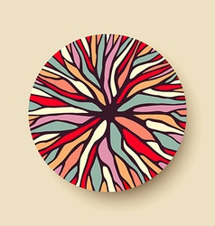 Abstract color tree branches in geometric shape vector