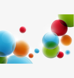 abstract colorful funny bubbles floating vector image