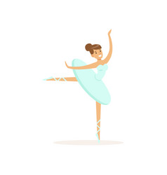 Actress of ballet theater dancing classical dance vector