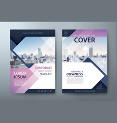 Annual report brochure flyer book cover template vector