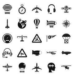 Atmosphere icons set simple style vector