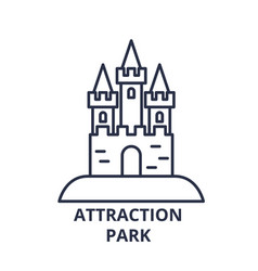attraction park line icon concept attraction park vector image