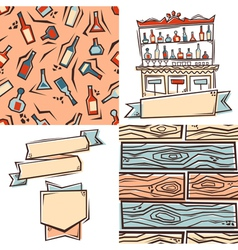 Bar design elements vector image