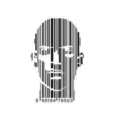 Barcode male vector