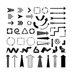 Black arrows vector image