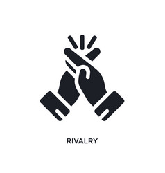 Black rivalry isolated icon simple element from vector