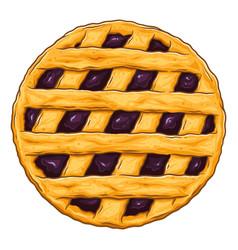 Blueberry pie vector