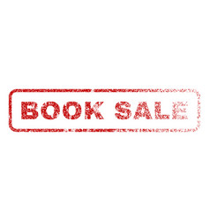 Book sale rubber stamp vector