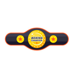 boxing championship belt vector image