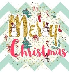 Christmas print with slogan vector image