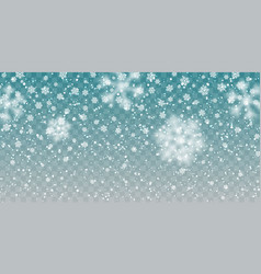 christmas snow falling snowflakes on transparent vector image