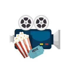 Cinematographic entertainment isolated icons vector