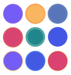 circle badges patch canvas badge colored frame vector image