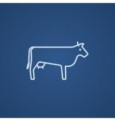 Cow line icon vector