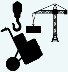 Crane working vector image