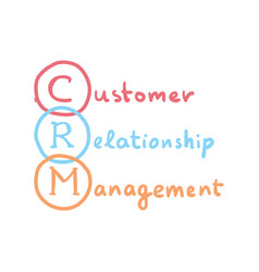 Crm concept customer relationship management vector