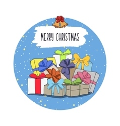 Cute cartoon on the theme of merry vector image