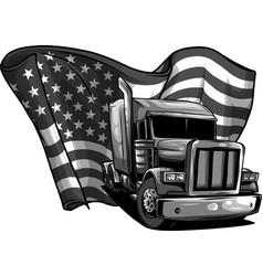 Design classic american truck vector