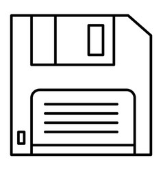 Diskette thin line icon floppy disk vector