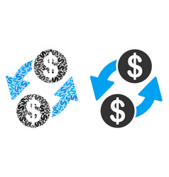 dollar exchange composition of dollars vector image