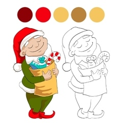 Dwarf with sweets vector