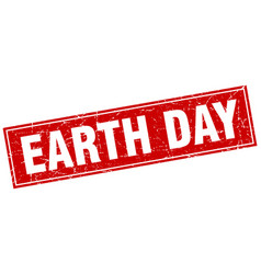 Earth day square stamp vector