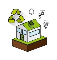 Eco friendly set flat icons vector
