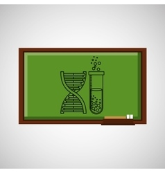 Education concept blackboard with chemistry vector
