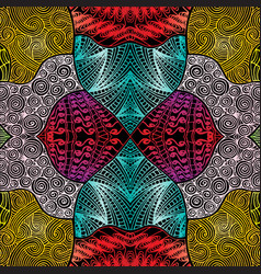 Ethnic pattern doodle background vector