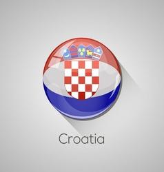European flags set - croatia vector