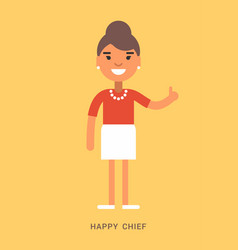 Expressions and emotions happy chief smiling vector