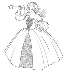Fairy Godmother Making a Wish vector image