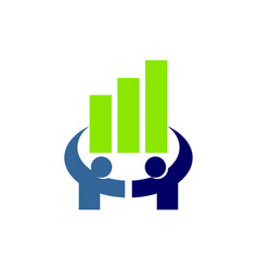 Financial accounting consulting teamwork logo vector