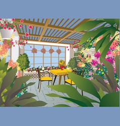 Flower room vector