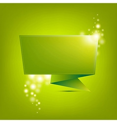 Green Paper Origami vector image