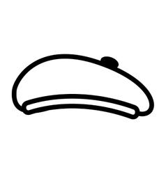Hat retro style beret vector